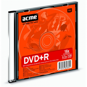 DVD+R Acme 4.7GB, 16x, Plastic Slim Box