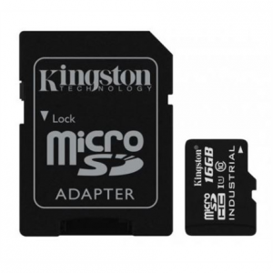 16GB Kingston Industrial Temperature UHS-I U1 MicroSDHC Class 10 SD Adapter SDCIT/16GB
