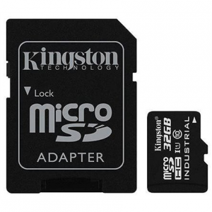 32GB Kingston Industrial Temperature UHS-I U1 MicroSDHC Class 10 SD Adapter SDCIT/32GB