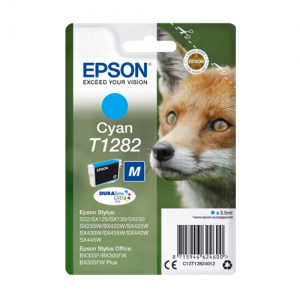 T1282 CYAN EPSON INK CARTRIDGE C13T12824012